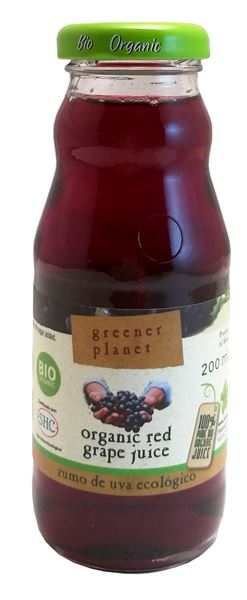 Billede af Greener Planet Bio-Macatela Red Grape Juice Druesaft 20 cl